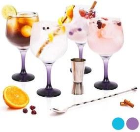 Conjunto de Copos de Gin Tonic LAV Cristal (4 Uds) - Roxo