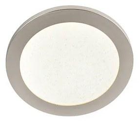 Luminária de teto IP44 3 etapas regulável incl. LED 22,5 cm - Steve Design,Moderno