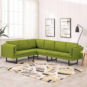 Sofá de canto tecido verde