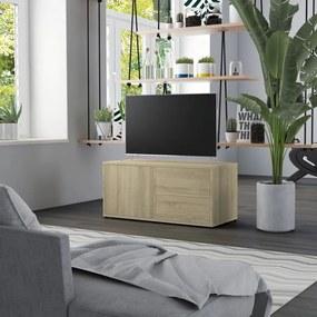 801853 vidaXL Móvel de TV 80x34x36 cm contraplacado carvalho sonoma