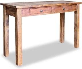 Mesa consola madeira reciclada maciça 123x42x75 cm