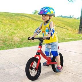 HOMCOM Bicicleta sem pedais Altura do assento ajustável 31-45cm para crianças acima de 2 anos Vermelho