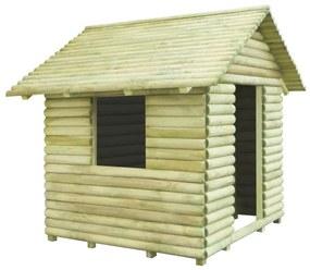 91229 vidaXL Casa de brincar 167x150x151 cm madeira de pinho impregnada
