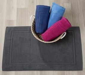 Tapetes de banho 100% algodão em azul marinho qualidade premium 1.000 gr./m2: Azul marinho 1 tapete banho 100% algodão penteado 50x80 cm premium 1.000 gr./m2 mesma cor