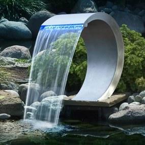 401371 Ubbink Cascata Mamba aço inoxidável com iluminação LED