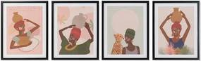 Pintura DKD Home Decor Africa (35 x 3 x 45 cm)