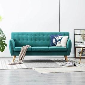 Sofá de 3 lugares estofos de tecido 172x70x82 cm verde