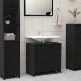 802643 vidaXL Armário casa de banho 60x33x58 cm contraplacado preto