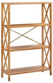 325572 vidaXL Estante com 4 prateleiras 80x30x125 cm madeira carvalho maciça