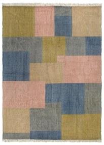 287551 vidaXL Tapete Kilim tecido à mão 160x230 cm algodão padrão multicor