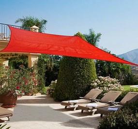 Outsunny Toldo Vela quadrada 3x4m Polietileno HDPE 185 g/m² para jardim varanda campismo Vermelho