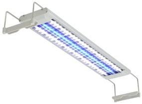 42463 vidaXL Iluminação aquário LED 50-60 cm alumínio IP67