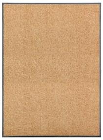 323466 vidaXL Tapete de porta lavável 90x120 cm creme
