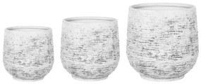 Conjunto de 3 vasos para plantas cinza claro DIONI