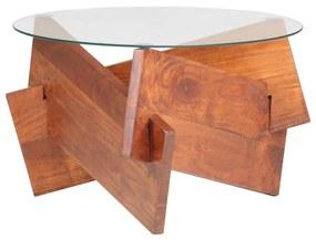 323402 vidaXL Mesa de centro 60 cm madeira de acácia maciça