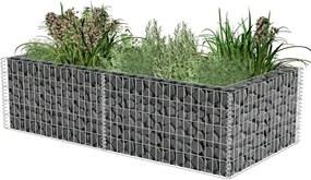 Gabião para plantas em aço galvanizado 180x90x50 cm