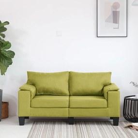 287075 vidaXL Sofá de 2 lugares em tecido verde