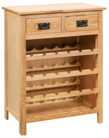 247043 vidaXL Armário para vinhos 72x32x90 cm madeira carvalho maciça