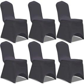 131412 vidaXL Capa extensível para cadeira 6 pcs antracite