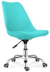 Cadeiras de Escritorio Torre-gtu, Polipropileno e Coxim Turquesa