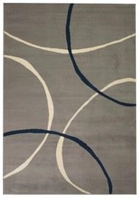 133019 vidaXL Tapete moderno com design de círculos 140x200 cm cinzento