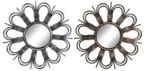Espelho de parede DKD Home Decor Polipropileno (PP) (2 pcs) (50 x 2.5 x 50 cm)