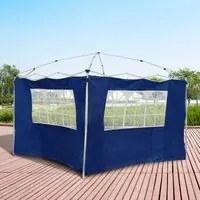 Outsunny 2 Paredes laterais com janelas para tenda para pavilhão - Cor azul - Oxford - 3x2 m
