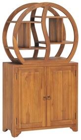 320774 vidaXL Móvel c/ prateleira Yin Yang 70x30x130cm madeira de teca maciça