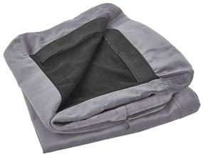 Capa para sofá de 2 lugares de veludo cinzento BERNES