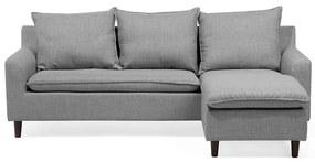Sofá de 3 lugares em tecido cinzento claro ELVENES