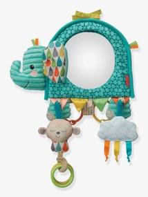 Elefante de atividades 3 em 1, Infantino azul vivo estampado