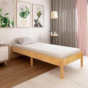 288477 vidaXL Estrutura de cama 100x200 cm madeira de carvalho maciça
