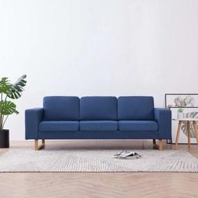 Sofá de 3 lugares em tecido azul