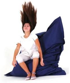 Puff almofada 140 x 180 cm azul escuro