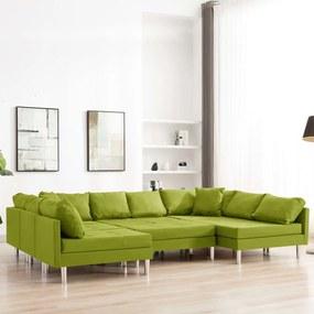 Sofá seccional tecido verde