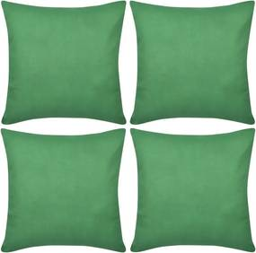 Capas de almofada algodão 4 pcs 80 x 80 cm verde