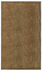 323437 vidaXL Tapete de porta lavável 90x150 cm castanho