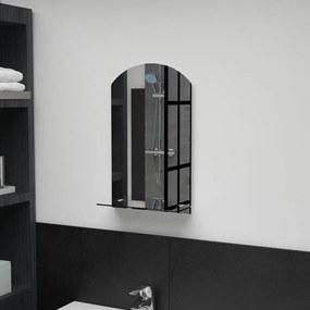 Espelho de parede c/ prateleira vidro temperado 30x50 cm