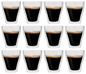 50836 vidaXL Copos para latte macchiato de parede dupla 12 pcs 280 ml