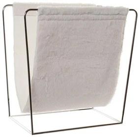 Porta-revistas DKD Home Decor Poliuretano Algodão Metal (40 x 20 x 38 cm)