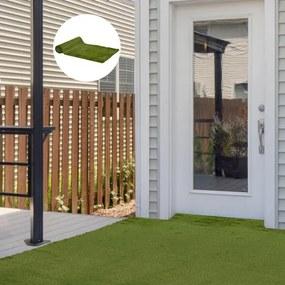 Grama artificial 1x4 m Espessura 30mm Realística para Terraço Jardim Varanda com Furos de Drenagem Verde
