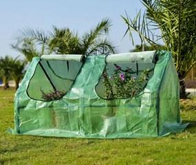 Outsunny Estufa com Tubo de Aço e Plástico Jardim Varanda Cultivo de Plantas 120x60x60 cm