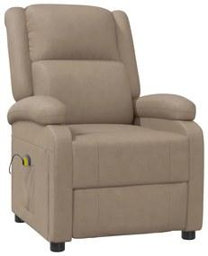 322435 vidaXL Cadeira de massagens reclinável couro artificial cappuccino