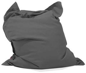 Pufe almofada 140 x 180 cm cinzento escuro