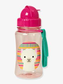 Copo com palhinha, Zoo SKIP HOP rosa claro liso com motivo