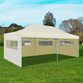 41582 vidaXL Tenda para festas pop-up dobrável 3 x 6 m creme