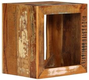 246270 vidaXL Banco 40x30x40 cm madeira recuperada maciça