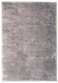 133044 vidaXL Tapete de divisão shaggy 140x200 cm cinzento