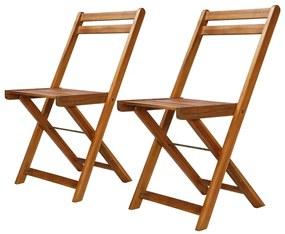 44012 vidaXL Cadeiras bistrô de exterior 2 pcs madeira de acácia maciça