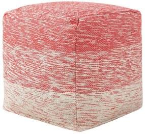 Tamborete 40 x 40 cm vermelho HIRRI